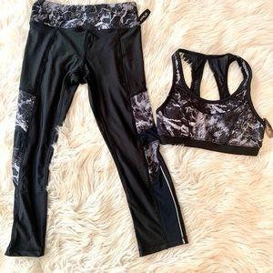 Workout set both leggings and sports bra